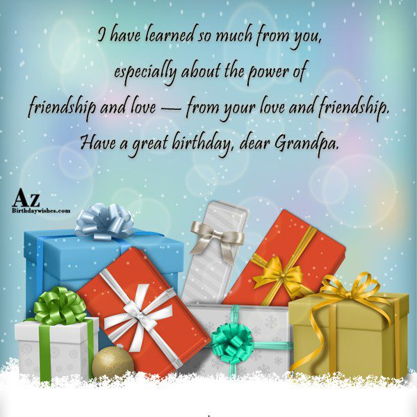 I have learned so much from you especially about… - AZBirthdayWishes.com