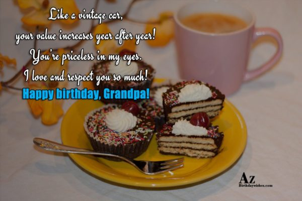 Thank you for being a kind and caring Grandpa… - AZBirthdayWishes.com