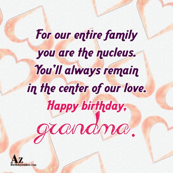 For our entire family you are the nucleus You… - AZBirthdayWishes.com