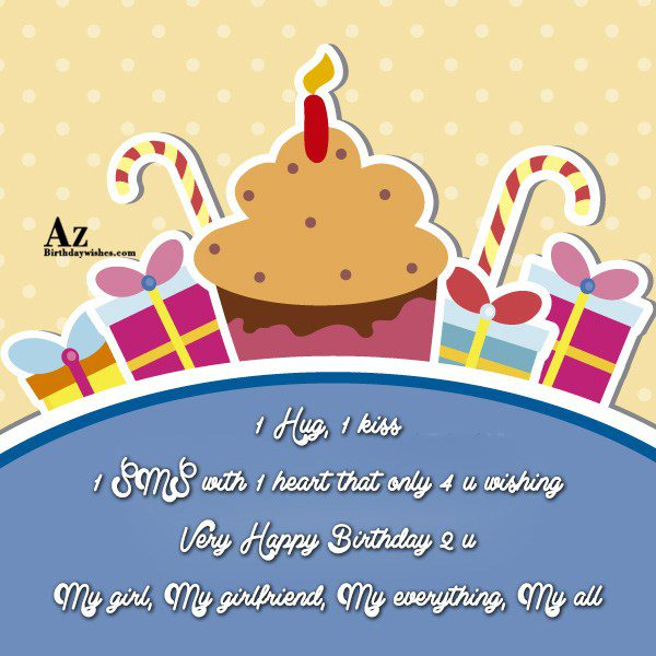 Hug kiss SMS with heart that only u wishing… - AZBirthdayWishes.com