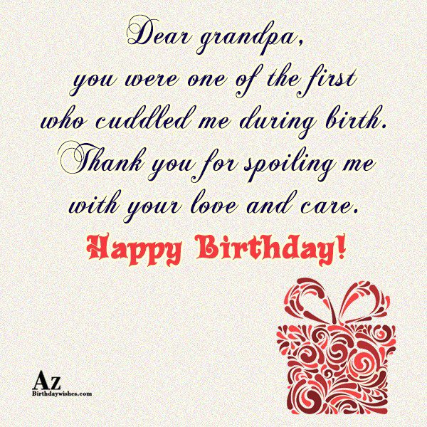 Dear grandpa you were one of the first who… - AZBirthdayWishes.com