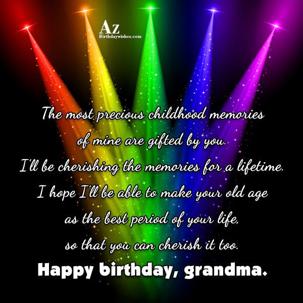 The most precious childhood memories of mine are gifted… - AZBirthdayWishes.com