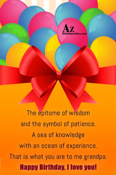 The epitome of wisdom and the symbol of patience… - AZBirthdayWishes.com