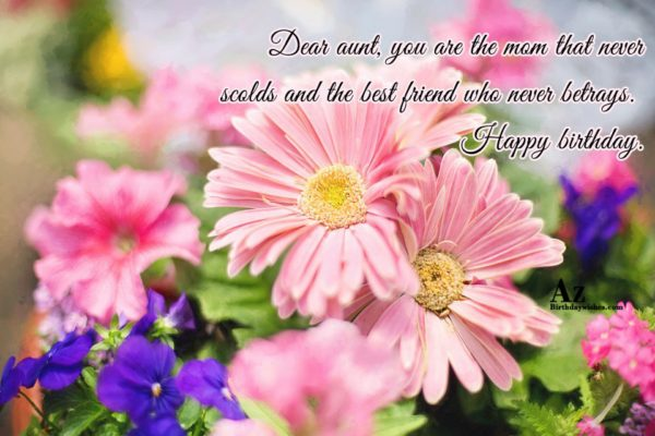 Dear aunt, you are the mom that never… - AZBirthdayWishes.com