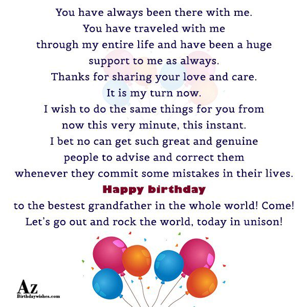 have been a huge support to me as always… - AZBirthdayWishes.com
