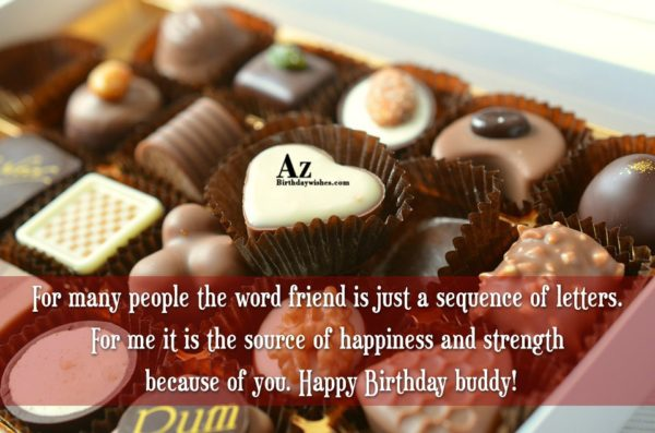 For many people the word friend is just… - AZBirthdayWishes.com