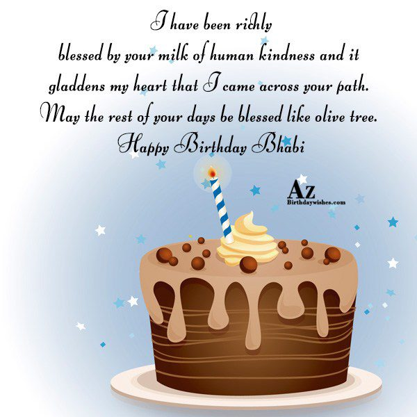 I have been richly blessed by your milk of… - AZBirthdayWishes.com