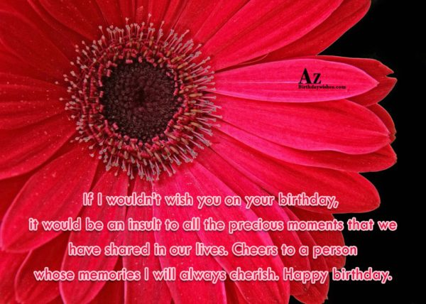 If I wouldn t wish you on your birthday… - AZBirthdayWishes.com