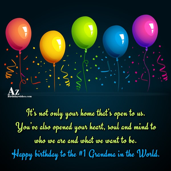 It's not only your home that's open to us… - AZBirthdayWishes.com