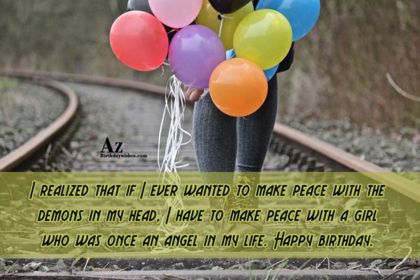 I realized that if I ever wanted to make… - AZBirthdayWishes.com