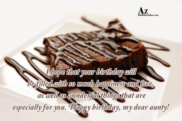 I hope that your birthday will be filled… - AZBirthdayWishes.com