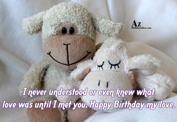 I never understood or even knew what love was… - AZBirthdayWishes.com