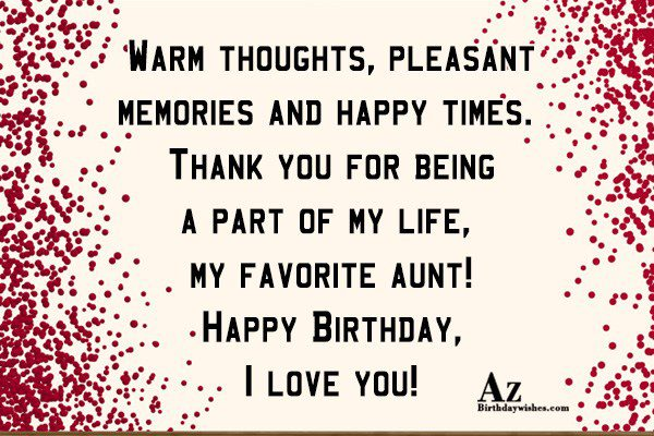 Thank you for being a part of my life… - AZBirthdayWishes.com