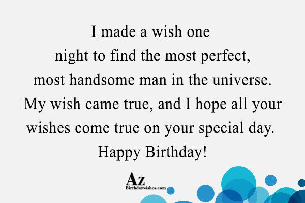 I made a wish one night to find the… - AZBirthdayWishes.com