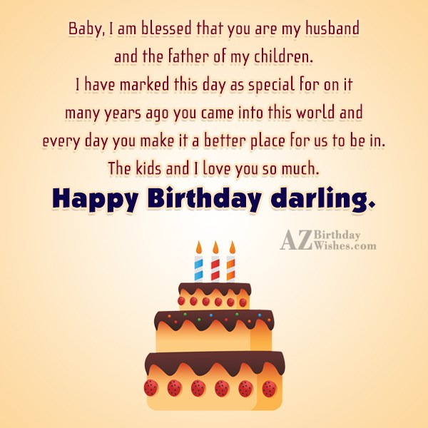 Baby, I am blessed that you are… - AZBirthdayWishes.com