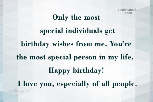 Only the most special individuals get birthday wishes from… - AZBirthdayWishes.com