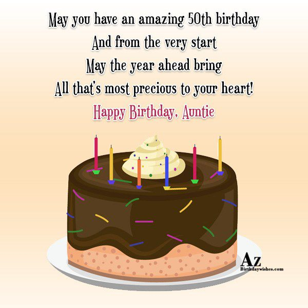 May you have an amazing 50th birthday… - AZBirthdayWishes.com
