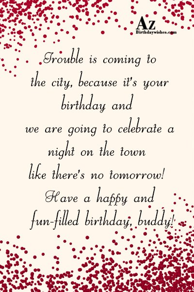 Trouble is coming to the city… - AZBirthdayWishes.com