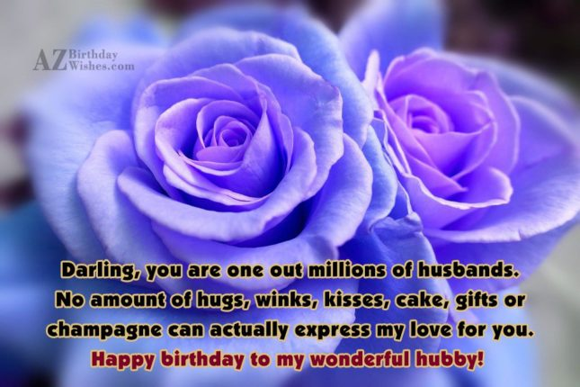 Darling, you are one out millions of… - AZBirthdayWishes.com