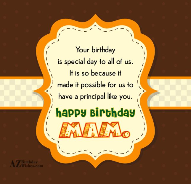 Your birthday is special day to all of us… - AZBirthdayWishes.com