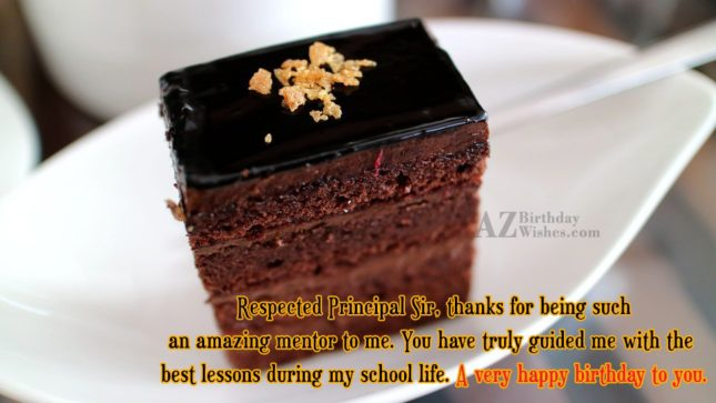 Respected Principal Sir thanks for being such an amazing… - AZBirthdayWishes.com