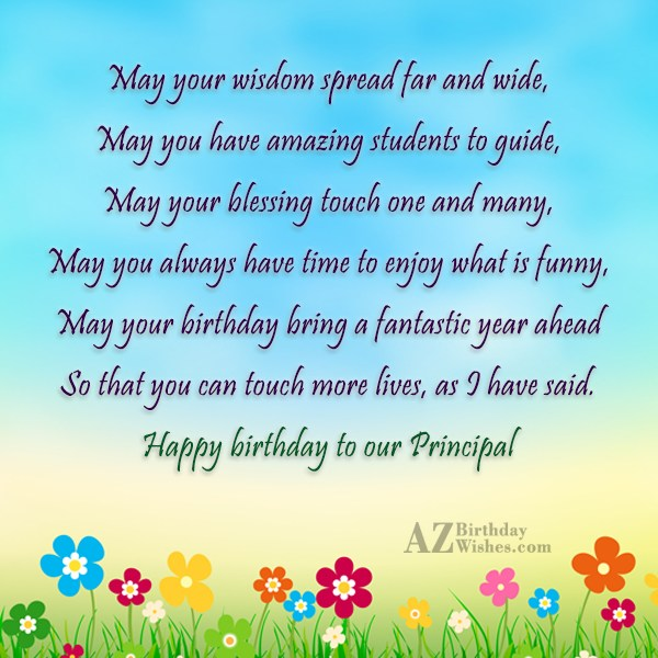 May your wisdom spread far and wide,May… - AZBirthdayWishes.com