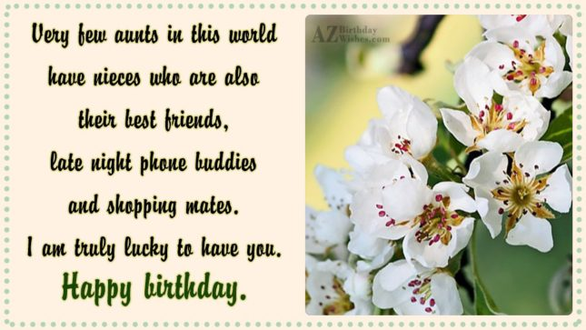 Very few aunts in this world have… - AZBirthdayWishes.com