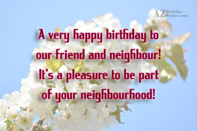 A very happy birthday to our friend… - AZBirthdayWishes.com