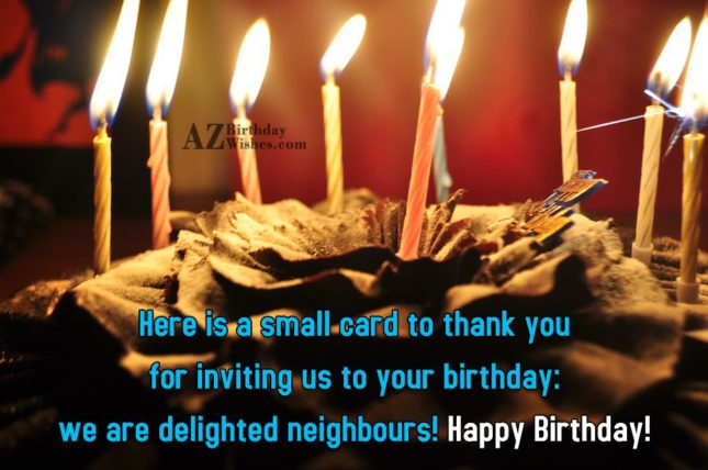 Here is a small card to thank… - AZBirthdayWishes.com