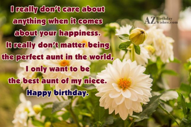 I really don't care about anything when… - AZBirthdayWishes.com