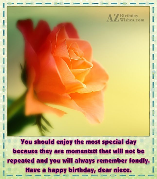 You should enjoy the most special day… - AZBirthdayWishes.com