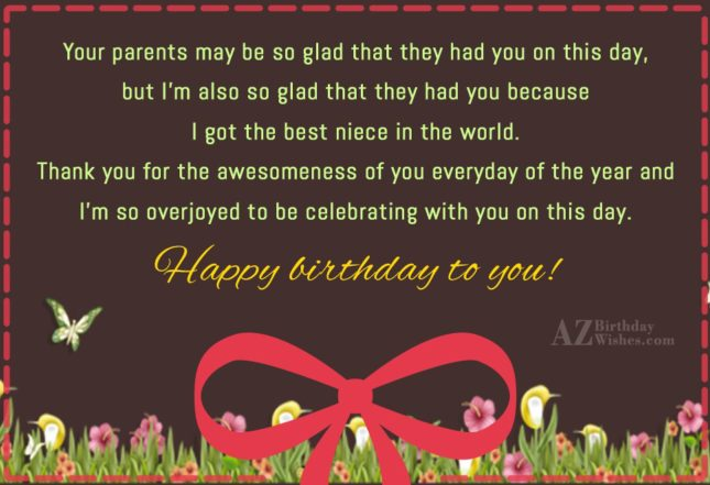 Your parents may be so glad that… - AZBirthdayWishes.com