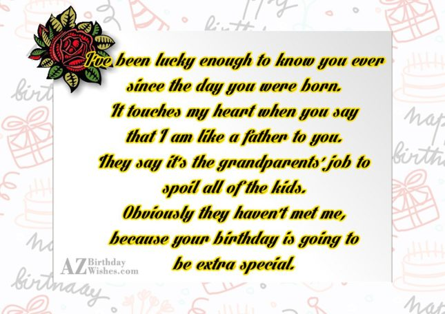 I've been lucky enough to know you… - AZBirthdayWishes.com