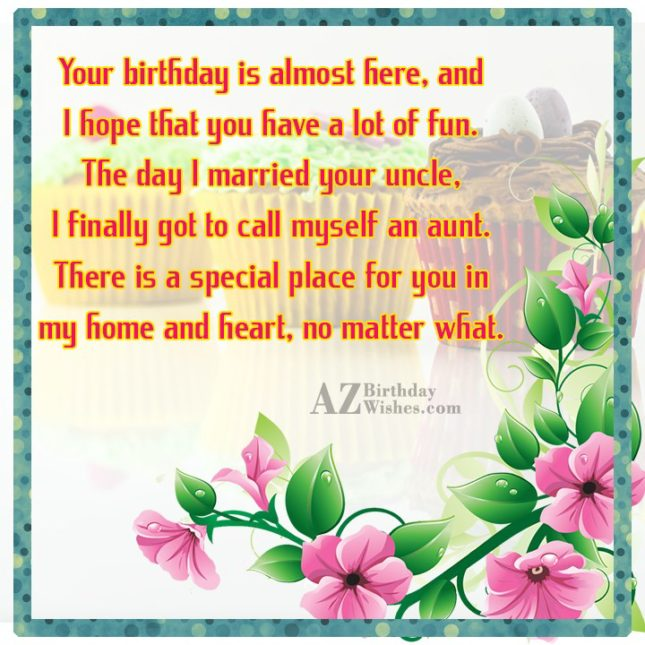 Your birthday is almost here, and I… - AZBirthdayWishes.com
