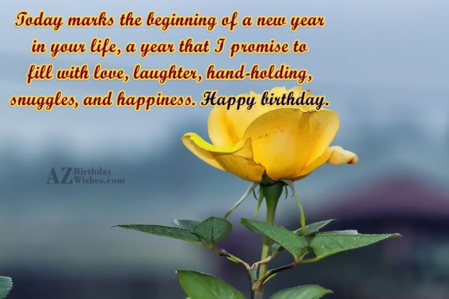 Today marks the beginning of a new… - AZBirthdayWishes.com