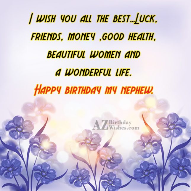 I wish you all the best…Luck, friends,… - AZBirthdayWishes.com