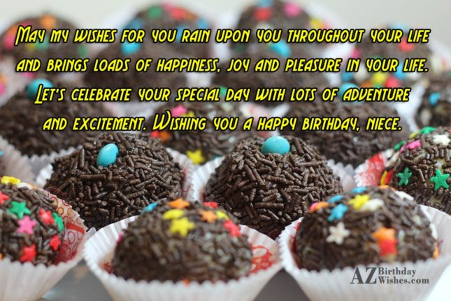 May my wishes for you rain upon… - AZBirthdayWishes.com