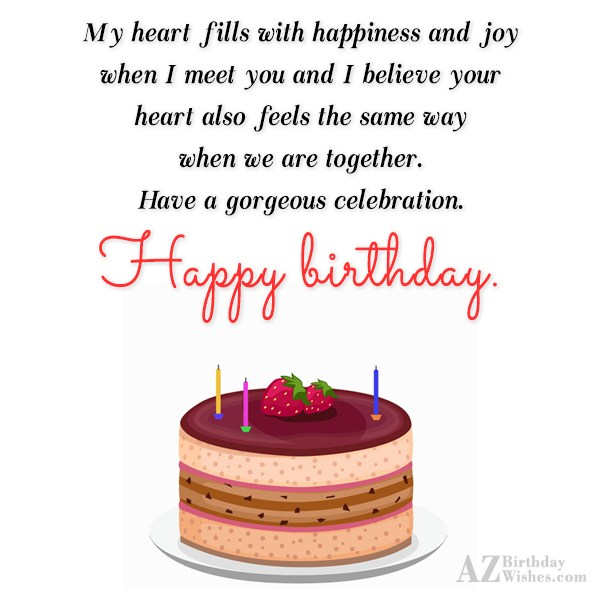 My heart fills with happiness and joy… - AZBirthdayWishes.com