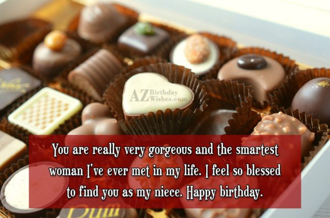 You are really very gorgeous and the… - AZBirthdayWishes.com