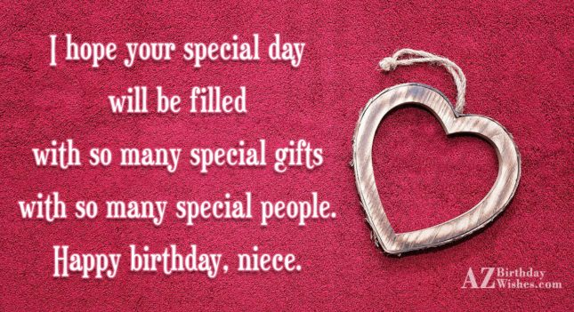I hope your special day will be… - AZBirthdayWishes.com