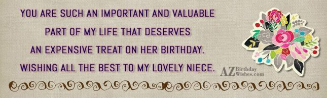 You are such an important and valuable… - AZBirthdayWishes.com