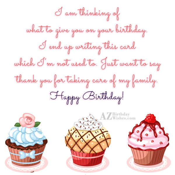 I am thinking of what to give… - AZBirthdayWishes.com