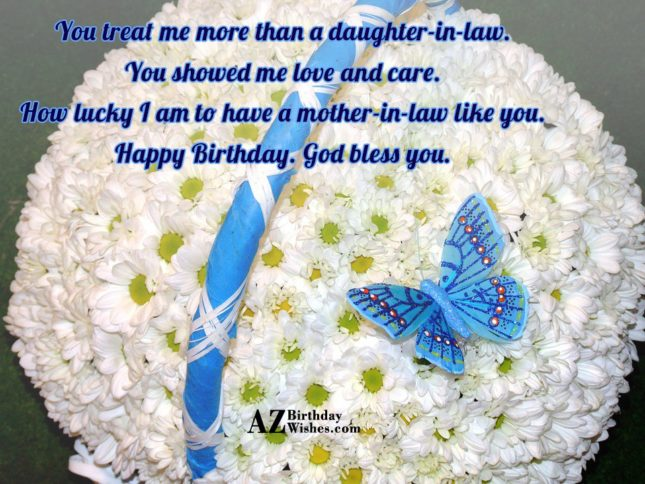 You treat me more than a daughter-in-law…. - AZBirthdayWishes.com