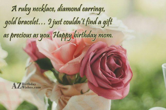A ruby necklace, diamond earrings, gold bracelet…… - AZBirthdayWishes.com