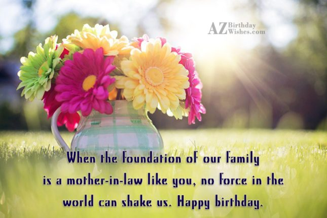 When the foundation of our family is… - AZBirthdayWishes.com