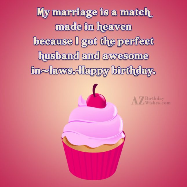 My marriage is a match made in… - AZBirthdayWishes.com