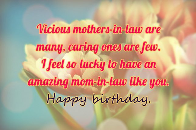 Vicious mothers-in-law are many, caring ones are… - AZBirthdayWishes.com