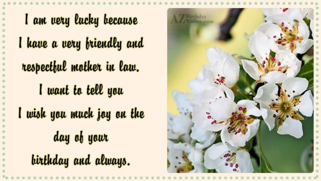 I am very lucky because I have… - AZBirthdayWishes.com