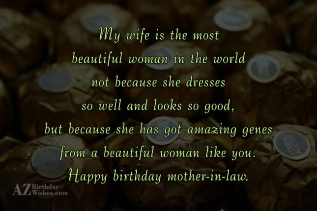 My wife is the most beautiful woman… - AZBirthdayWishes.com
