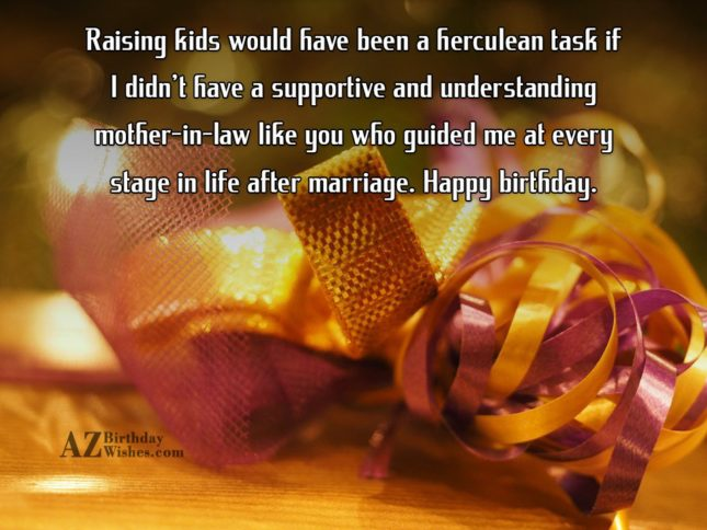 Raising kids would have been a herculean… - AZBirthdayWishes.com